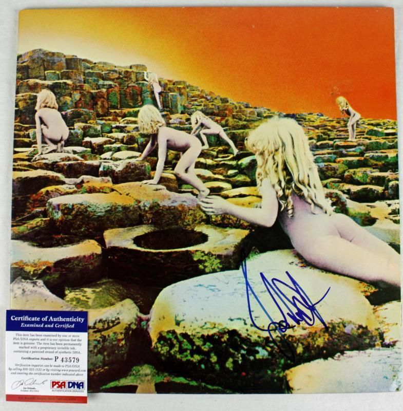 JONES LED ZEPPELIN SIGNED ALBUM COVER W/ VINYL PSA/DNA #P43579